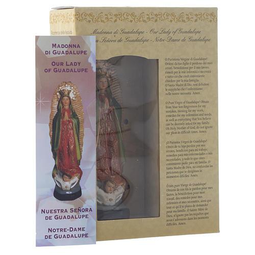 Nossa Senhora de Guadalupe 12 cm pvc caixa ORAÇÃO MULTILINGUE 3