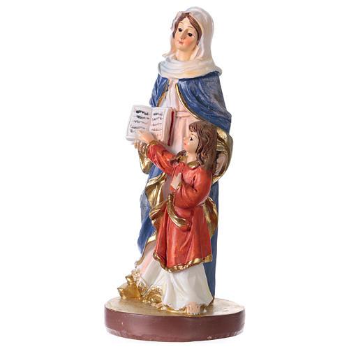 Sant'Anna 12 cm con immaginetta PREGHIERA MULTILINGUA 2