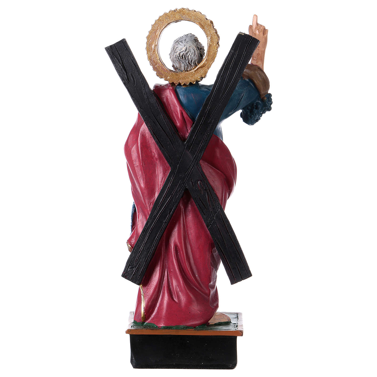 St. Andrew statue with MULTILINGUAL PRAYER 12 cm 4