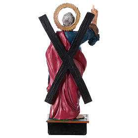 St. Andrew statue with MULTILINGUAL PRAYER 12 cm s3