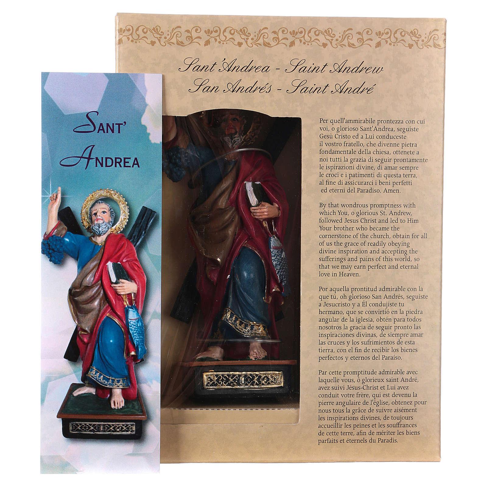 Saint André 12 cm avec image PRIÈRE MULTILINGUE 4