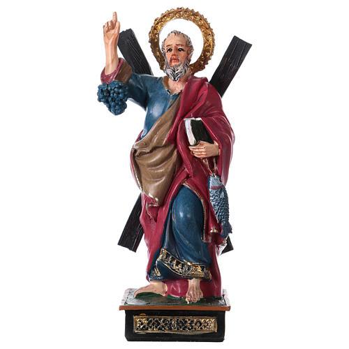 Saint André 12 cm avec image PRIÈRE MULTILINGUE 1