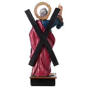 Saint Andrew 12 cm with MULTILINGUAL PRAYER s3
