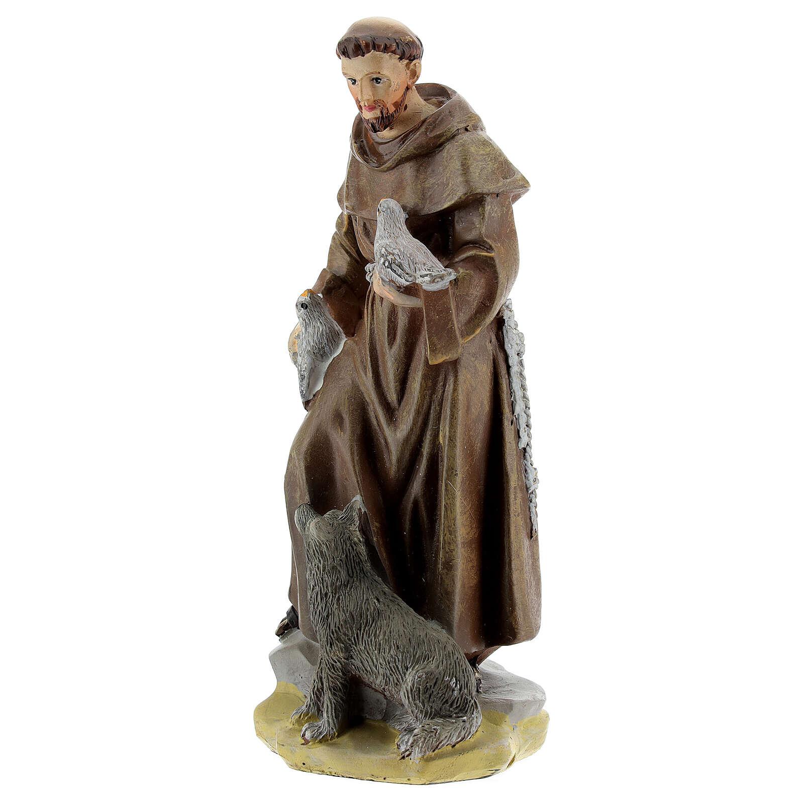 Saint François d'Assise 12 cm avec image PRIÈRE MULTILINGUE 4