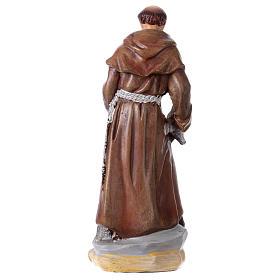 Saint François d'Assise 12 cm avec image PRIÈRE MULTILINGUE s3