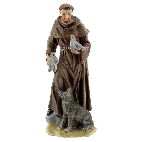 Saint François d'Assise 12 cm avec image PRIÈRE MULTILINGUE 1