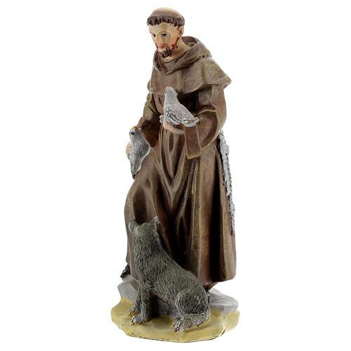 Saint François d'Assise 12 cm avec image PRIÈRE MULTILINGUE 2