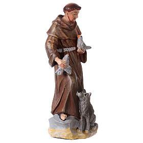 San Francesco d'Assisi 12 cm con immaginetta PREGHIERA MULTILINGUA s2
