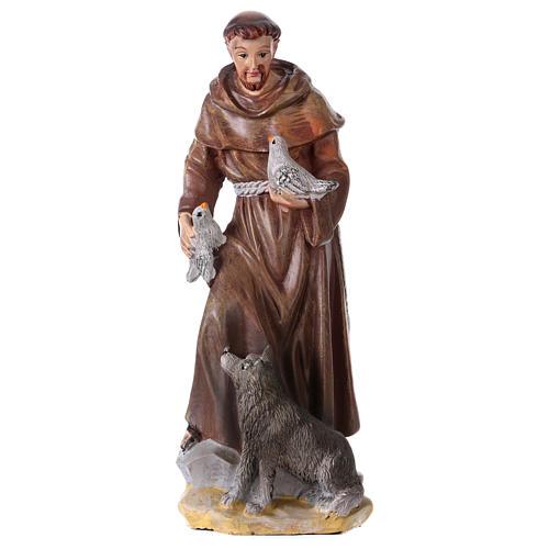 San Francesco d'Assisi 12 cm con immaginetta PREGHIERA MULTILINGUA 1