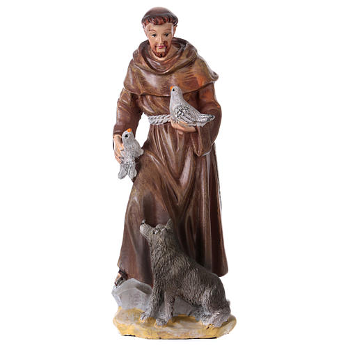Święty Franciszek z Asyżu 12 cm z obrazkiem MODLITWA W WIELU JĘZYKACH 1