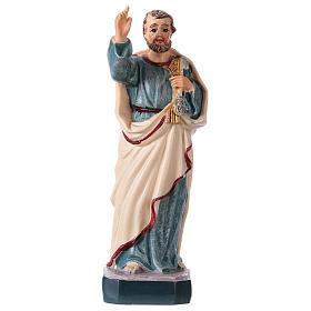 Statues en résine et PVC: Saint Pierre 12 cm avec image PRIÈRE MULTILINGUE