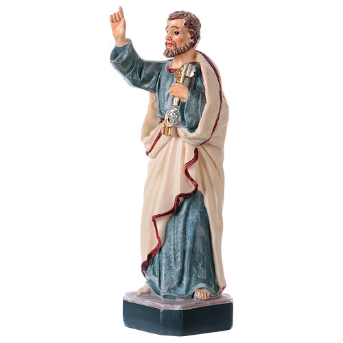 San Pietro 12 cm con immaginetta PREGHIERA MULTILINGUA 2