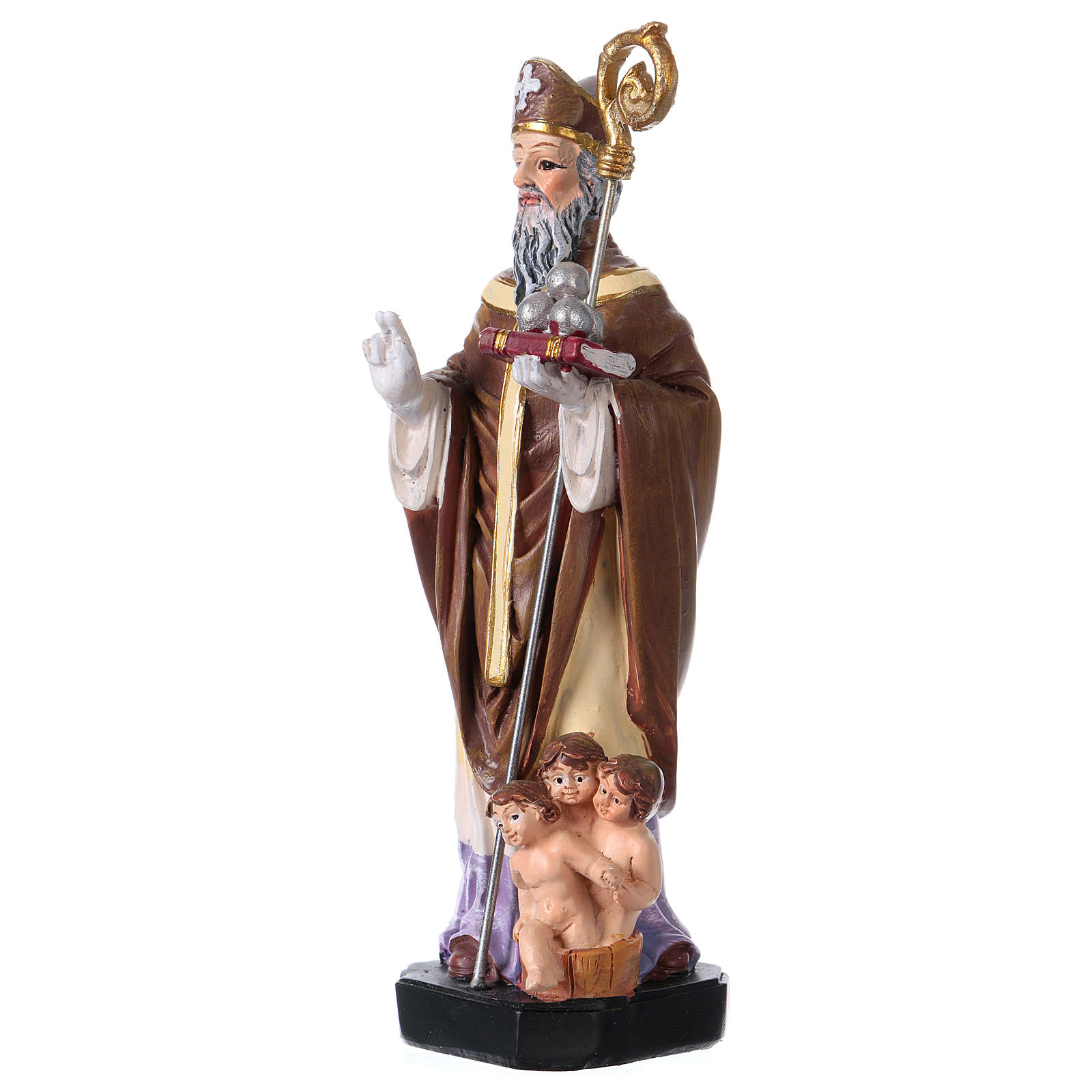 St. Nicholas statue with MULTILINGUAL PRAYER 12 cm 4