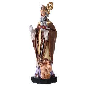 San Nicola 12 cm con immaginetta PREGHIERA MULTILINGUA s2