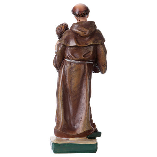 St. Anthony of Padua statue with MULTILINGUAL PRAYER 12 cm 3