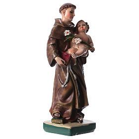 Sant'Antonio da Padova 12 cm con immaginetta PREGHIERA MULTILINGUA s2