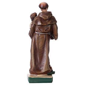 Sant'Antonio da Padova 12 cm con immaginetta PREGHIERA MULTILINGUA s3