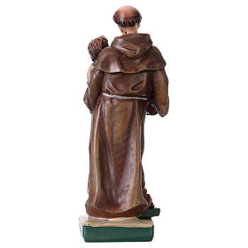 St Anthony of Padua 12 cm with MULTILINGUAL PRAYER s3