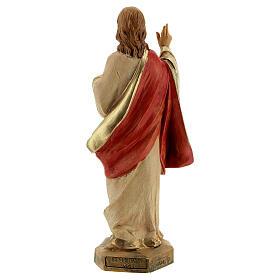 Statue Sacré-Coeur de Jésus Fontanini 17 cm s4