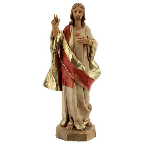 Statue Sacré-Coeur de Jésus Fontanini 17 cm 1