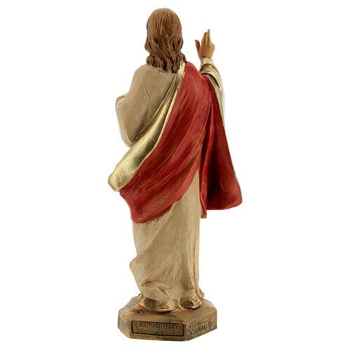 Statue Sacré-Coeur de Jésus Fontanini 17 cm 4