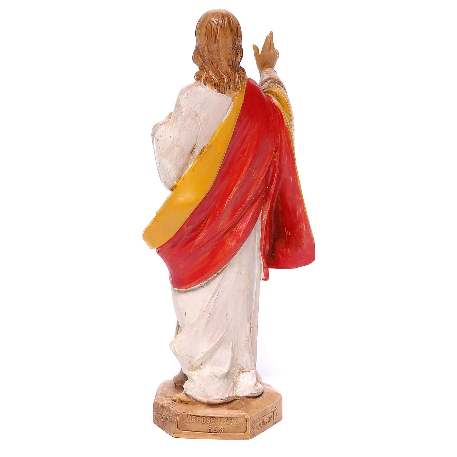 Statua Sacro Cuore di Gesù Fontanini 17 cm 4