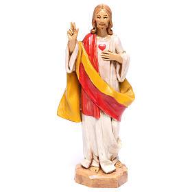 Imagens em Resina e PVC: Imagem Sagrado Coração de Jesus Fontanini 17 cm