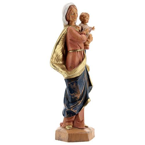 Virgen con Niño en brazos Fontanini 17 cm 4