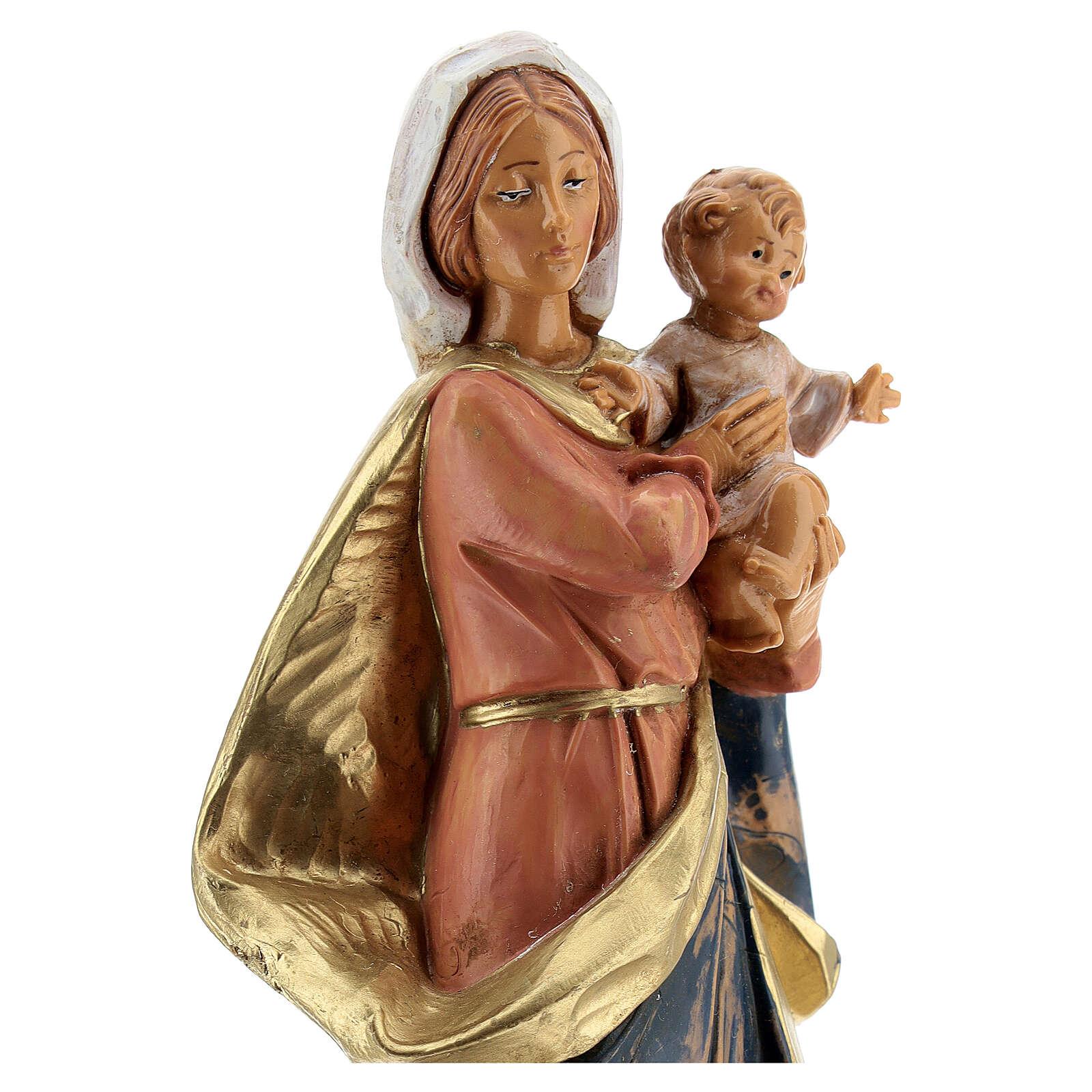 Sainte Vierge avec Enfant Jésus à bras Fontanini 17 cm 4