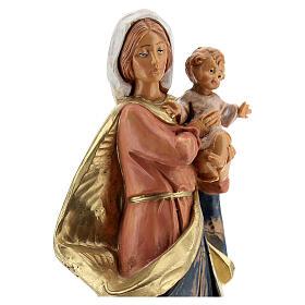 Sainte Vierge avec Enfant Jésus à bras Fontanini 17 cm s2