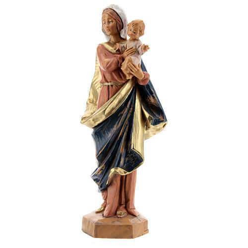Sainte Vierge avec Enfant Jésus à bras Fontanini 17 cm 3