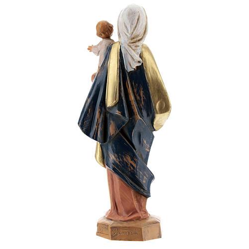 Sainte Vierge avec Enfant Jésus à bras Fontanini 17 cm 5
