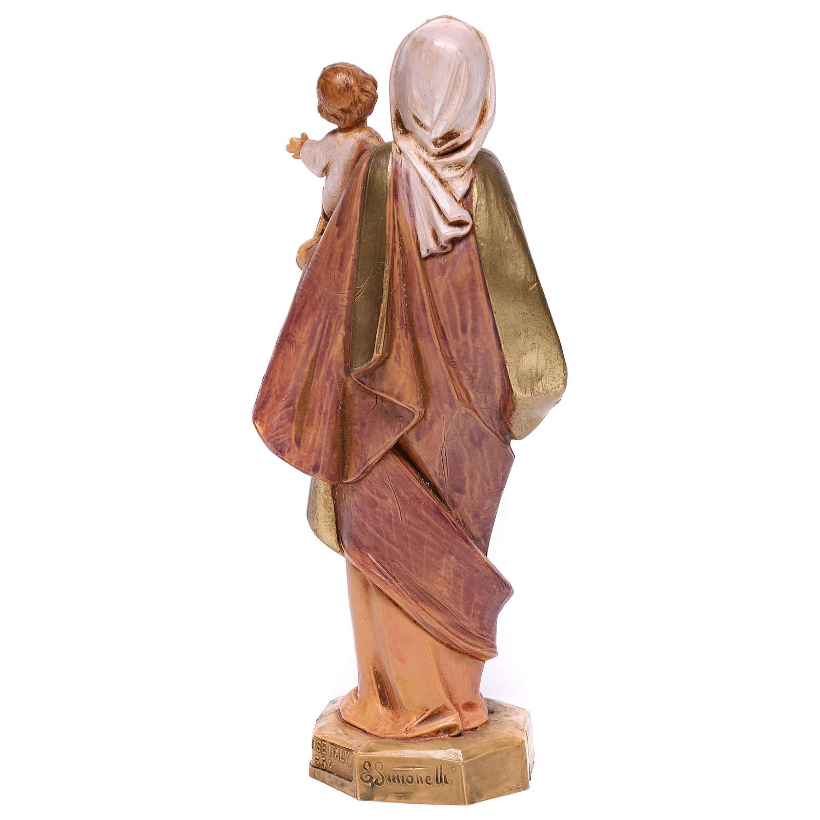 Madonna con Bambino in braccio Fontanini 17 cm 4