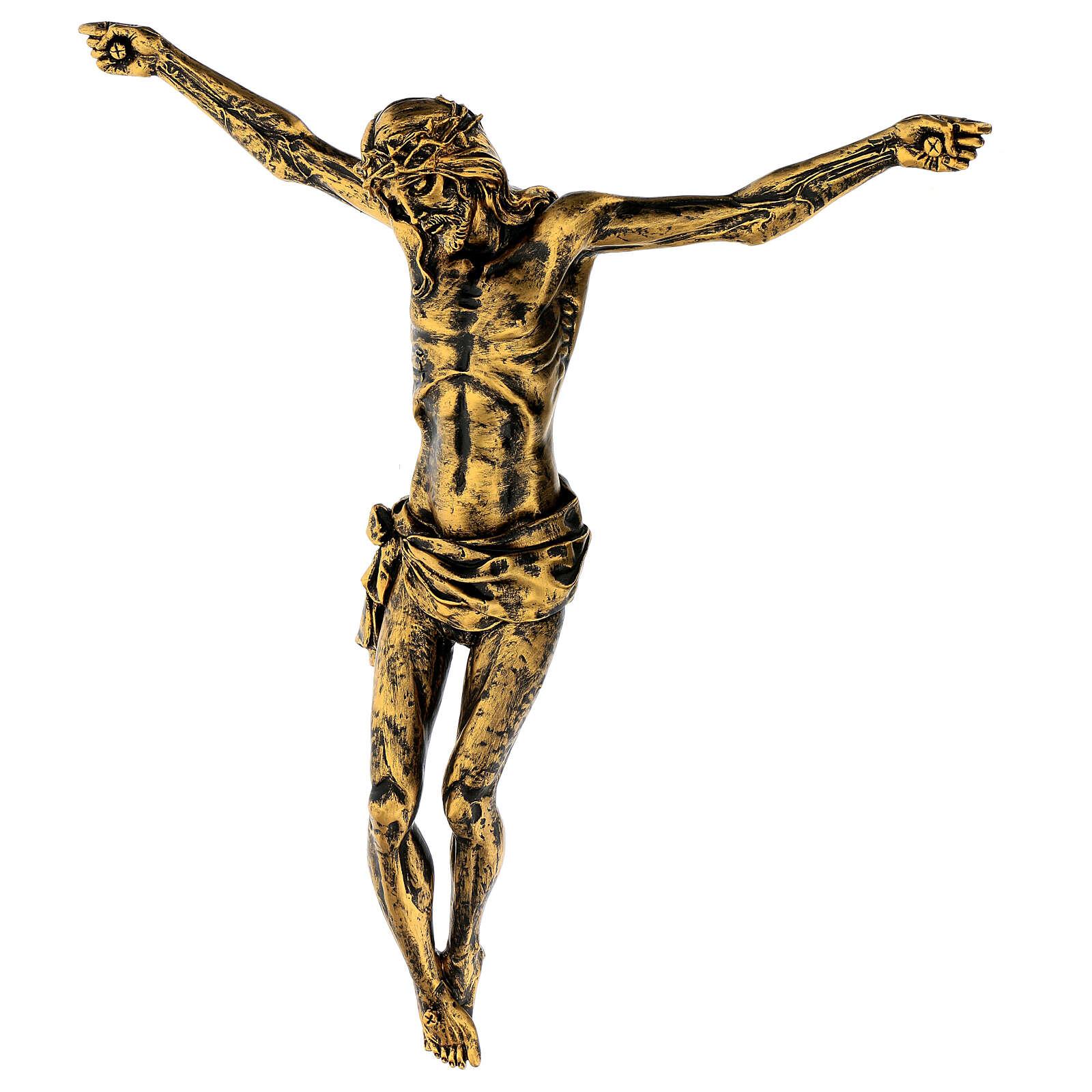 Cuerpo de Cristo color bronce Fontanini 45 cm 4