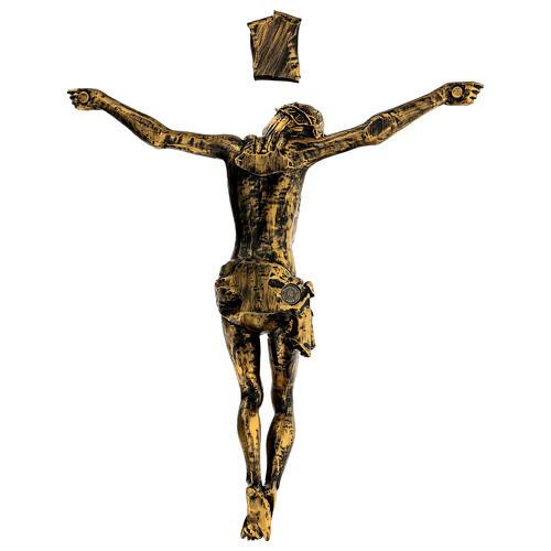 Cuerpo de Cristo color bronce Fontanini 45 cm 5