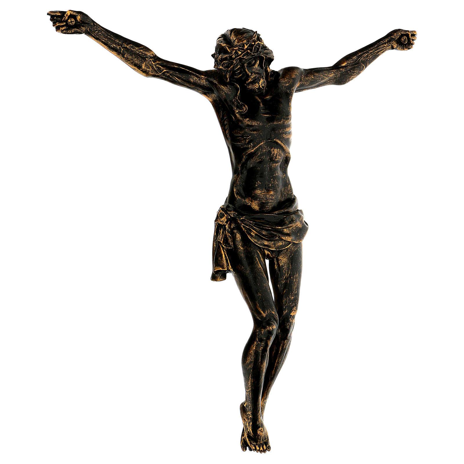 Corpo di Cristo color bronzo Fontanini 45 cm 4