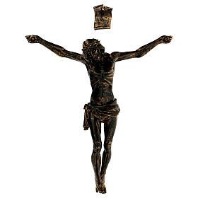Corpo di Cristo color bronzo Fontanini 45 cm s1
