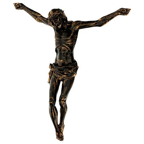Corpo di Cristo color bronzo Fontanini 45 cm 3