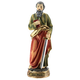 Statue of St. Paul in resin 20 cm s1