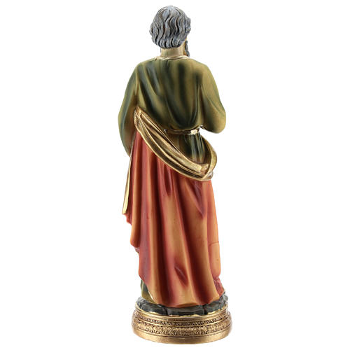 Statue of St. Paul in resin 20 cm 5