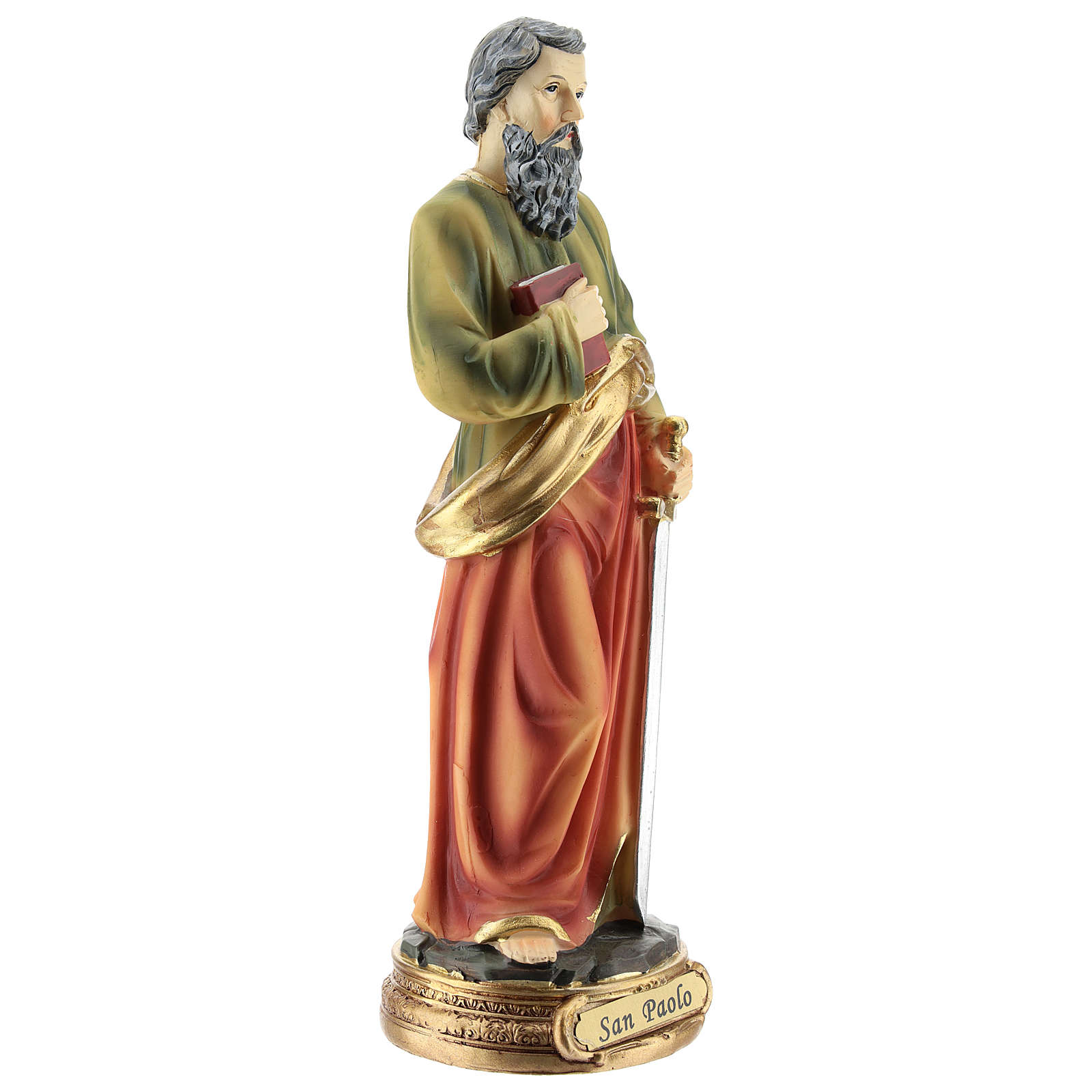 Statua di San Paolo resina 20 cm 4