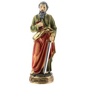 Statua di San Paolo resina 20 cm s1