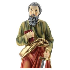 Statua di San Paolo resina 20 cm s2