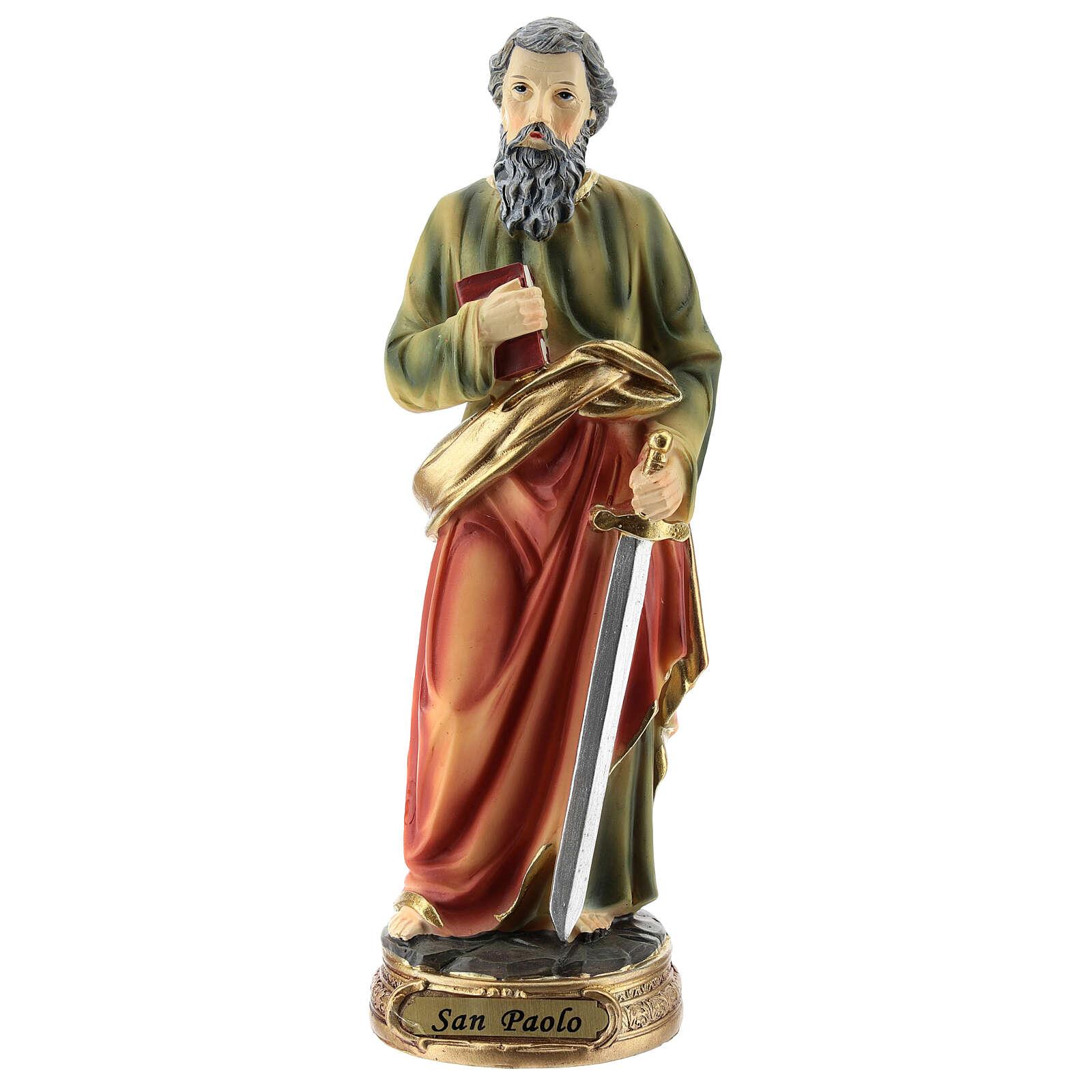 St Paul statue resin 20 cm 4