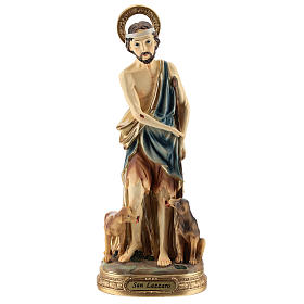 Statue of St. Lazarus in resin 30 cm s1