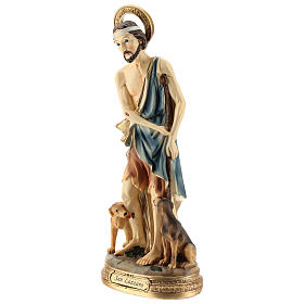 Statue of St. Lazarus in resin 30 cm s3