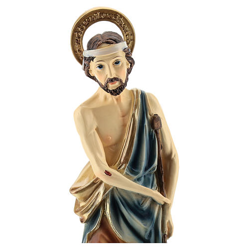 Statue of St. Lazarus in resin 30 cm 2