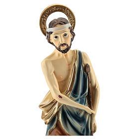 Statue de Saint Lazare résine 30 cm s2