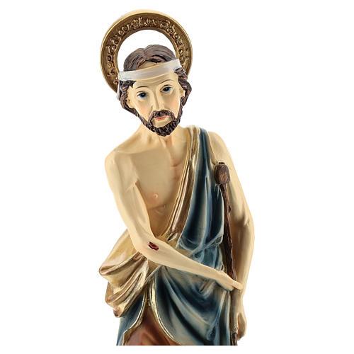 Statue de Saint Lazare résine 30 cm 2