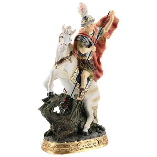 Statua San Giorgio uccide il drago resina 30 cm 4